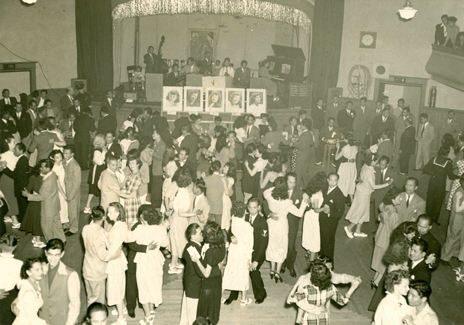 Filipino American Dance in the 1940s. Photo courtesy of FAHNS